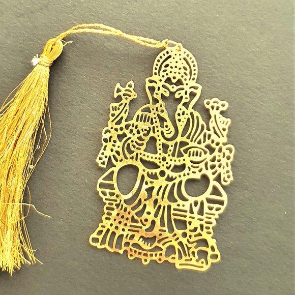 Bookmark Design-Brass metal cutting  Ganesh